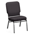 Solid Upholstery Armless Big & Tall Wingback Stack Chair, 51543
