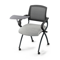 Nex Fabric Nesting Chair with Tablet Arm and Mesh Back, 51661