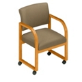 Open Back Conference Chair with Casters, 52142