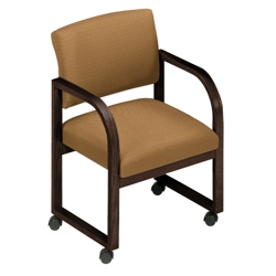 Designer Fabric Open Back Conference Chair with Casters, 52150