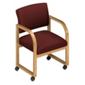 Sled Base Open Back Chair with Casters, 52367