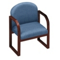 Heavy-Duty Vinyl Sled Base Conference Chair with Arms, 52159