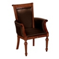 Leather Guest Chair with Arms, 55458
