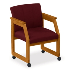 Angled Arm Conference Chair with Casters, 52313