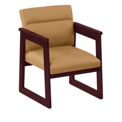 Print Fabric Tapered Arm Chair, 52318