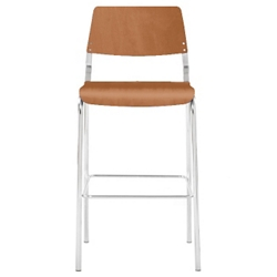 Molded Wood Armless Guest Stool, 52402