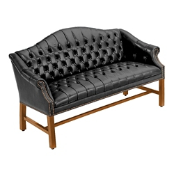 Martell Traditional Genuine Leather Loveseat, 76252