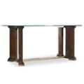 "Glass Top Writing Desk - 66""W, 14384"