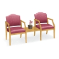 Heavy-Duty Vinyl Guest Chairs with Center Table, 53530