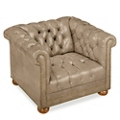 Brittas Bay Tufted Faux Leather Club Chair, 76257