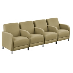 """Parkside Four Seater with Center Arms - 99.5""""W, 53617"""