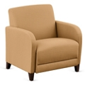 """Parkside Oversized Guest Chair in Polyurethane or Fabric - 31""""W, 53619"""