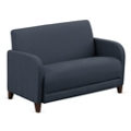 "Parkside Loveseat in Faux Leather or Fabric - 50""W, 53622"