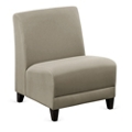 "Parkside Armless Oversized Guest Chair in Faux Leather or Fabric - 25""W, 53624"