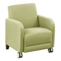"""Parkside Guest Chair with Casters in Polyurethane or Fabric - 27""""W, 53625"""