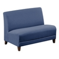 "Parkside Armless Loveseat in Faux Leather or Fabric - 44""W, 53627"