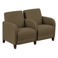 "Parkside Two Seater with Center Arm in Faux Leather or Fabric - 51.5""W, 53628"