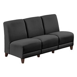 "Parkside Armless Sofa in Polyurethane or Fabric - 64.5""W, 53629"