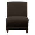 "Parkside Armless Guest Chair in Leather - 21""W, 53634"