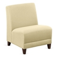 """Parkside Armless Oversized Guest Chair in Leather - 25""""W, 53638"""