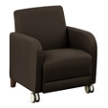 "Parkside Guest Chair with Casters in Leather - 27""W, 53639"