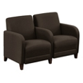 "Parkside Two Seater with Center Arm in Leather - 51.5""W, 53642"
