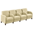 "Parkside Four Seater with Center Arm in Leather - 51.5""W, 53645"