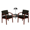 New Castle Fabric Two Chairs with Corner Table Set, 53667