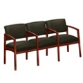 New Castle Fabric Three Seater with Center Arms, 53671