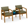 New Castle Designer Upholstery Two Chairs with Center Table Set, 53677