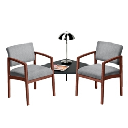 New Castle Designer Upholstery Two Chairs with Corner Table Set, 53678
