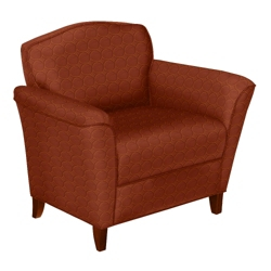 Contemporary Club Chair in Fabric, 53783