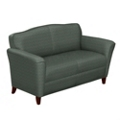 Contemporary Loveseat in Fabric, 53784