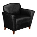 Contemporary Club Chair in Leather, 53789