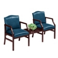 2 Chairs and Center Table in Standard Upholstery, 53962
