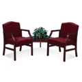 2 Chairs & Corner Table in Heavy Duty Upholstery, 53968