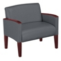 Extra Large Guest Chair in Solid Fabric, 53978