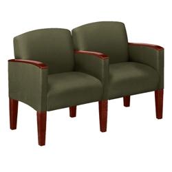 Two-Seat Sofa in Print Fabric or Vinyl, 53983