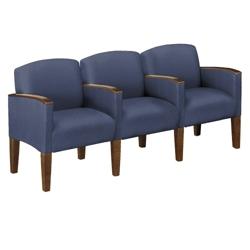 Three Seat Sofa in Print Fabric or Vinyl, 53984