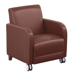 "Parkside Guest Chair with Casters in Faux Leather - 27""W, 54967"