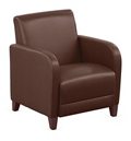 """Parkside Guest Chair in Faux Leather - 27""""W, 54968"""