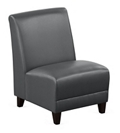 """Parkside Armless Guest Chair in Faux Leather - 21""""W, 54969"""
