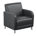"""Parkside Oversized Guest Chair in Faux Leather - 31""""W, 54972"""