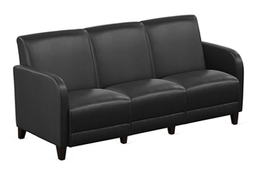"Parkside Sofa in Faux Leather - 69.5""W, 54977"