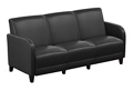 """Parkside Sofa in Faux Leather - 69.5""""W, 54977"""