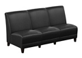 """Parkside Armless Three Seat Sofa in Faux Leather - 64.5""""W, 54978"""