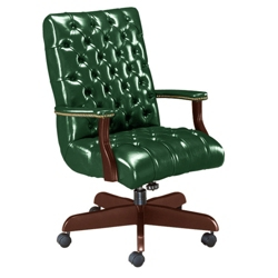 Traditional Leather Mid Back Chair, 55209