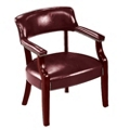 Traditional Vinyl Guest Chair with Arms, 55270