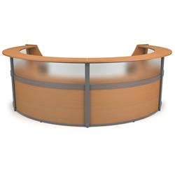 "Marque Four Piece Reception Station with Plexi - 142""W x 90""D, 75932"