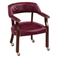 Cambridge Collection Captain's Chair  with Casters in Vinyl, 55567